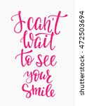 romantic love lettering.... | Shutterstock .eps vector #472503694
