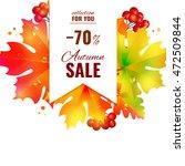 autumn sale lettering orange ... | Shutterstock .eps vector #472509844