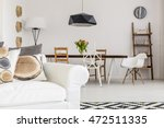 white sofa with pillows... | Shutterstock . vector #472511335