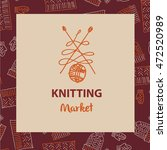 crafts market. knitting with... | Shutterstock .eps vector #472520989
