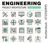 modern engineering construction ... | Shutterstock .eps vector #472520995
