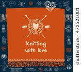 crafts market. knitting with... | Shutterstock .eps vector #472521001