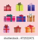 gift box birthday set present... | Shutterstock .eps vector #472522471