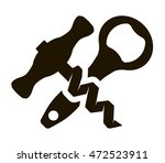bottle opener and corkscrew | Shutterstock .eps vector #472523911