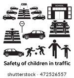safety of children in traffic.... | Shutterstock . vector #472526557