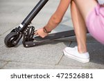 pleasant woman checking her...   Shutterstock . vector #472526881