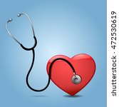 stethoscope and heart  isolated ... | Shutterstock . vector #472530619
