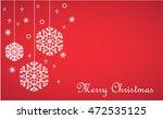 christmas background  hanging... | Shutterstock .eps vector #472535125