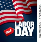 labor day sale. vector template ... | Shutterstock .eps vector #472536601