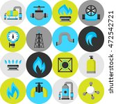 natural gas production ... | Shutterstock .eps vector #472542721