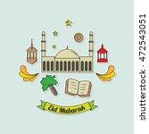 set of eid mubarak isolated... | Shutterstock .eps vector #472543051