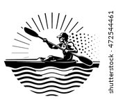 rowing emblem. sport... | Shutterstock .eps vector #472544461