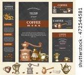 coffee restaurant menu template ...   Shutterstock .eps vector #472544581