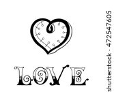 love calligraphic inscription... | Shutterstock .eps vector #472547605