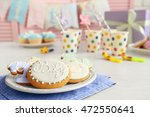 Baby Glazed Cookies In Plate O...