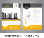 vector modern brochure with... | Shutterstock .eps vector #472552741