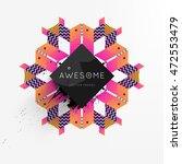 trendy geometric flat pattern ... | Shutterstock .eps vector #472553479