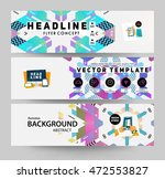 banners set  trendy geometric... | Shutterstock .eps vector #472553827