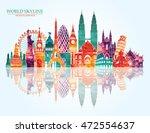 world skyline. travel and...   Shutterstock .eps vector #472554637