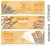 bakery banner hand drawn vector ... | Shutterstock .eps vector #472554835