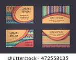 business card or visiting card... | Shutterstock .eps vector #472558135