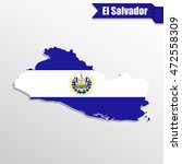 el salvador map with flag... | Shutterstock .eps vector #472558309