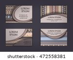 business card or visiting card... | Shutterstock .eps vector #472558381