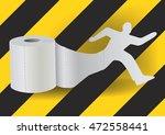 toilet paper with running man.... | Shutterstock .eps vector #472558441