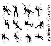 climber set silhouette 01 | Shutterstock .eps vector #472565461
