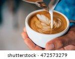 coffee latte art make by... | Shutterstock . vector #472573279