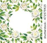 decorative floral composition... | Shutterstock . vector #472575925