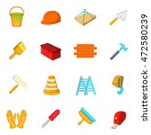 working tools icons set in... | Shutterstock . vector #472580239