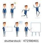 set of businessman characters... | Shutterstock .eps vector #472580401