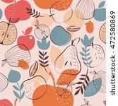autumn harvest seamless pattern   Shutterstock .eps vector #472580869