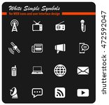 media simply symbol for web... | Shutterstock .eps vector #472592047