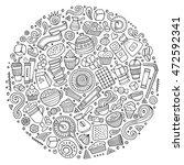 line art vector hand drawn set...   Shutterstock .eps vector #472592341