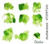 set of watercolor spots....   Shutterstock .eps vector #472597141