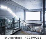 billboard banner signage mock... | Shutterstock . vector #472599211