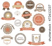 vintage retro badge.elements... | Shutterstock .eps vector #472612237