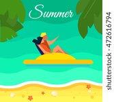 summer background  vector... | Shutterstock .eps vector #472616794
