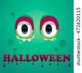 Monster Eyes . Halloween Text...