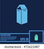 milk vector icon | Shutterstock .eps vector #472621087