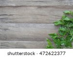green leaf of mulberry placed... | Shutterstock . vector #472622377