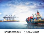 logistics and transportation of ... | Shutterstock . vector #472629805