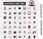 business meeting icons | Shutterstock .eps vector #472631647