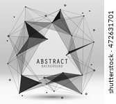 vector abstract background with ... | Shutterstock .eps vector #472631701