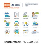 color line icons collection.... | Shutterstock .eps vector #472635811