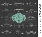 set of hand drawn graphic...   Shutterstock .eps vector #472636141