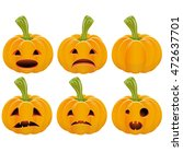 set pumpkin for halloween | Shutterstock .eps vector #472637701