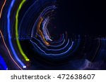 abstract pattern of city lights ... | Shutterstock . vector #472638607